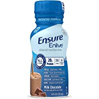Ensure Enlive Meal Replacement Shake, 20g Protein, 350 Calories, Advanced Nutrition Protein Shake, Milk Chocolate, 8 fl…