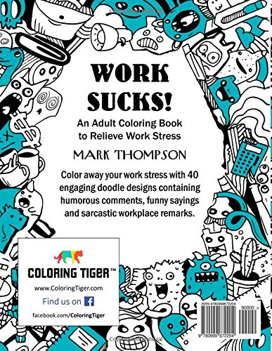 Amazon.com: Work Sucks!: An Adult Coloring Book to Relieve Work ...