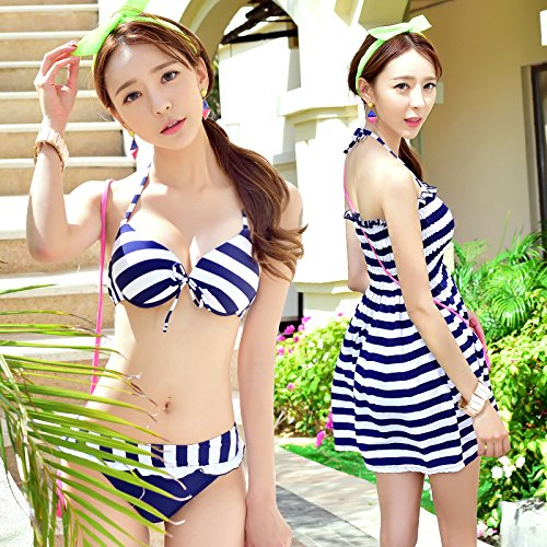 YUPE Hot spring Badeanzug Mode Damen drei Stück Dreieck Niedrige taille Rock bikini Badeanzug