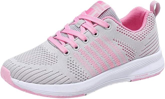 Zapatillas de Deportivo Running Plano para Mujer Otoño Verano 2018 Moda PAOLIAN Cómodos Senderismo Zapatos de Alta Ayuda Deportes de Exterior Señora Casual Calzado Dama Talla Grande: Amazon.es: Zapatos y complementos