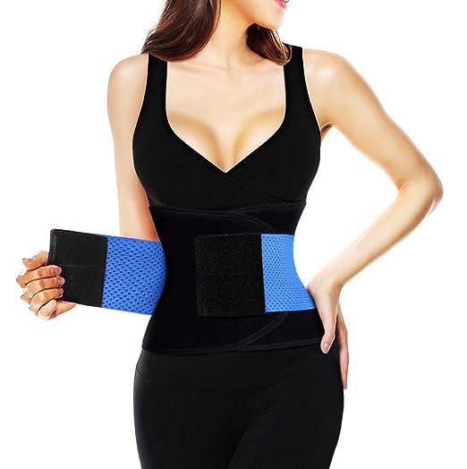 480d7a50fb Killreal Women s Waist Trainer Belt - Body Shaper Belt for an Hourglass  Figure Shaper Blue X
