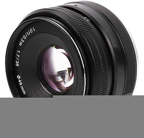 V BESTLIFE 35 mm F1.7 Lente de Enfoque Manual para Cámara Sony E ...