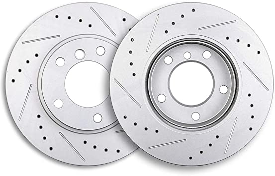FRONT Drill And Slot BRAKE ROTORS /& CERAMIC Pads For 328i 318iS 323i 325i 328i