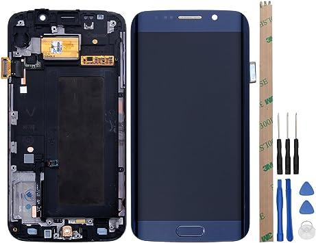 Ocolor Samsung Galaxy S6 Edge G925A / G925F / G925T + pantalla LCD + pantalla táctil digitalizador + marco de reparación y reemplazo + herramienta gratuita (Azul oscuro): Amazon.es: Electrónica