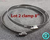 SKEMiDEX---LOT TWO 6'' Stainless Steel Hose Pipe Adjustable Screw Bolt Clamps Ties Wrap New. Release or tighten the bolt to adjust the band diameter range Ideal for industrial or home use