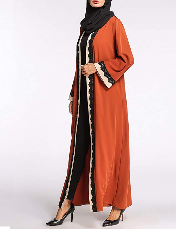 BESBOMIG Malaysia Turkish Dubai Church Muslims Dresses - Islamic Gown Casual at Amazon Womens Clothing store: