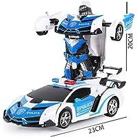 FidgetGear Robot Transform Car Toy,1:18 Simulation Vehicle Model ChildrenIntellectual Development Machine Christmas Gift Police car 1:18