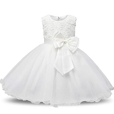 4ba4563806aef Amazon.com: Newborn Baby Dress Kids Party Wear Costume for Girl Tutu ...