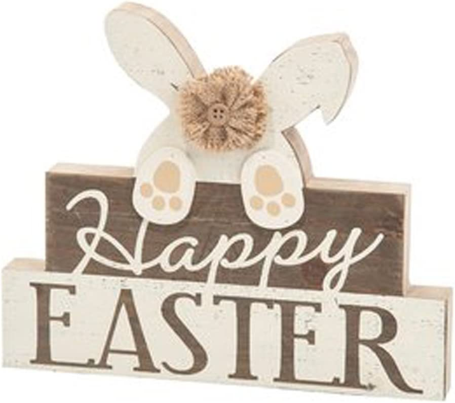 Wooden Easter Bunny sign Home decoration rustic style