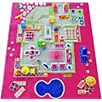 IVI Playhouse 3D Play Rugs, Pink, Small