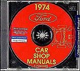 1974 FORD CAR REPAIR SHOP SERVICE MANUAL CD