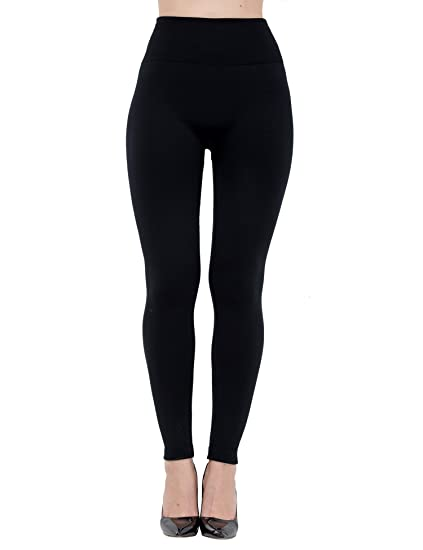93daa9eae92 Diravo Women s Fleece Lined Leggings Soft High Waist Slimming Winter Warm  Leggings Black