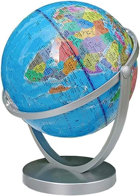 ZQYR Gift# 8 Pulgadas Mapa del Mundo Globo Base Giratoria Planeta ...