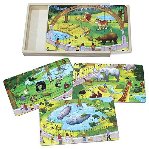 Zoo Animals Wooden Puzzle - 4