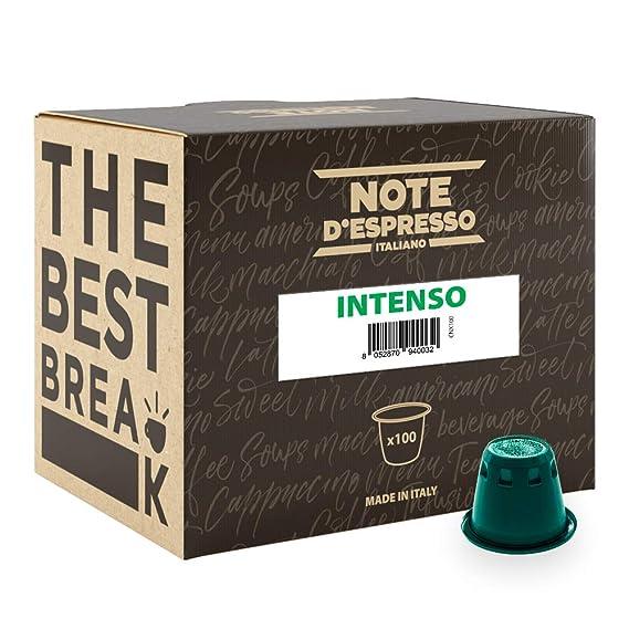Note DEspresso - Cápsulas de café intenso compatibles con cafeteras Nespresso, 5,6 g (caja de 100 unidades)