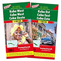 Kuba West und Ost, Autokarten Set 1:400.000 (freytag & berndt Auto + Freizeitkarten): Set wegenkaarten 1:150 000