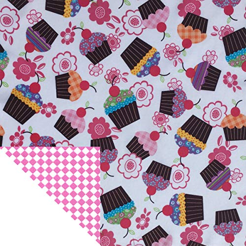 Kiddokins Cotton Cloth Napkins for Kids Lunchbox: Cupcake Double Sided Napkin