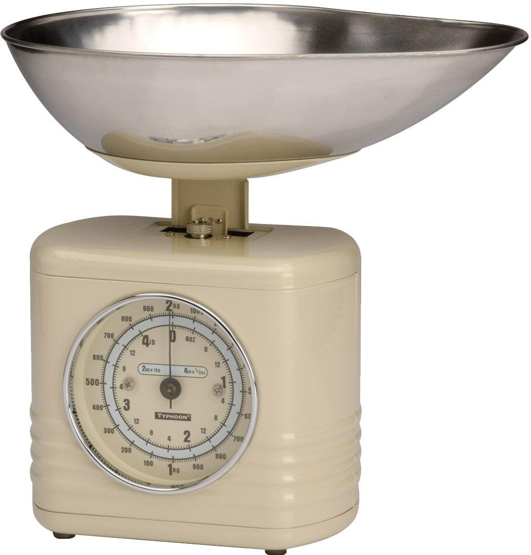 Typhoon Vintage Kitchen Scales, Cream