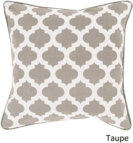 Amazon Com 1 Piece 20x20 White Grey Geometric Throw Pillow Gray Shabby Chic Medallion Theme Pillows Jacquard Geometric Nature Novelty Square Pattern Modern Style Throws Couch Beds Cushion Headrest Cotton Home Kitchen