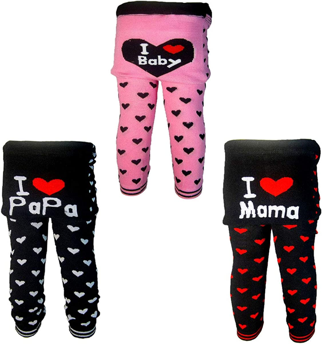 3 Pants 0-24 Months Baby Girls Toddler Leggings Trousers Knitted Pants