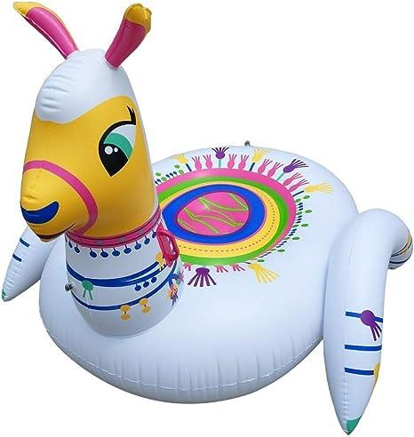 2020Alpaca Inflable Piscina Flotador Gaint Lindo Camello Animal Piscina Piscina Agua Paseo en Flotador Asiento Tumbona Silla Juguete de Playa para niños y Adultos: Amazon.es: Deportes y aire libre