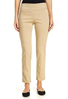 78cb2be629ee6 Zac   Rachel Womens Solid Pull On Slim Fit Pants at Amazon Women s ...