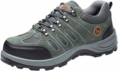 Amazon.com: Jiu du para hombre zapatos de seguridad puntera ...