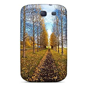 Hot Snap-on Tree Path Landscape Hard Cover Case/ Protective Case For Galaxy S3