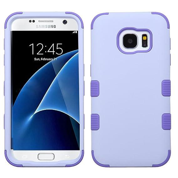 MyBat Funda para Samsung Galaxy S7 G930 (no Edge) Doble Case de Uso Rudo (Lavanda)