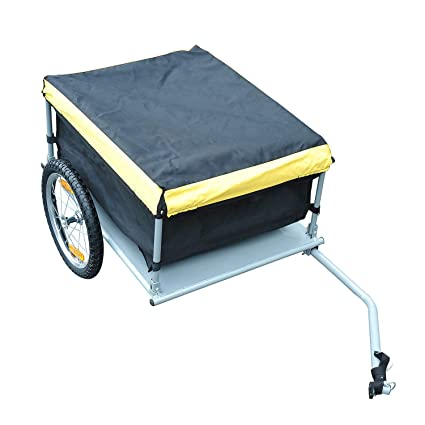AyaMastro Red//Black 31.5 L Bicycle Cargo Trailer Carrier Bike Storage Cart Runner Shopping w//Removable Cover with Ebook