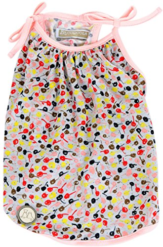 """* Dog Top Colorful Cherry, Pink Color, Size L (Round Chest 21"""" x Body Length 12"""")"""