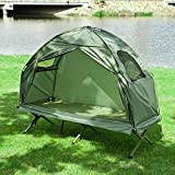 Haotian Compact Collapsable Portable Camping Cot, Pop-Up...