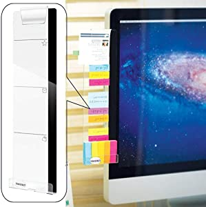 FO&OSOBEIT Acrylic Concise Computer Monitor Message Board - Computer Monitors Notes Side Panel - Memo Holder for Screen (Left)