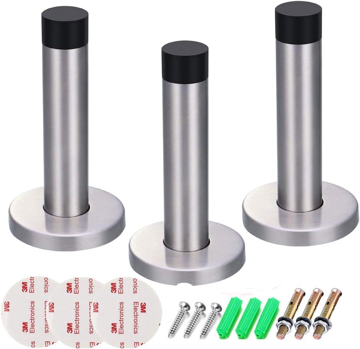 Adhesive Door Stop Metallic Matte Chrome
