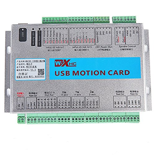 UCONTRO Mach3 USB 3 Axis CNC Motion Control Card Breakout Board 2000 KHz 2 MHz, Support Resume from Breakpoint and Spindle Speed Feedback, Work with Windows 7, 10 (3 Axis)