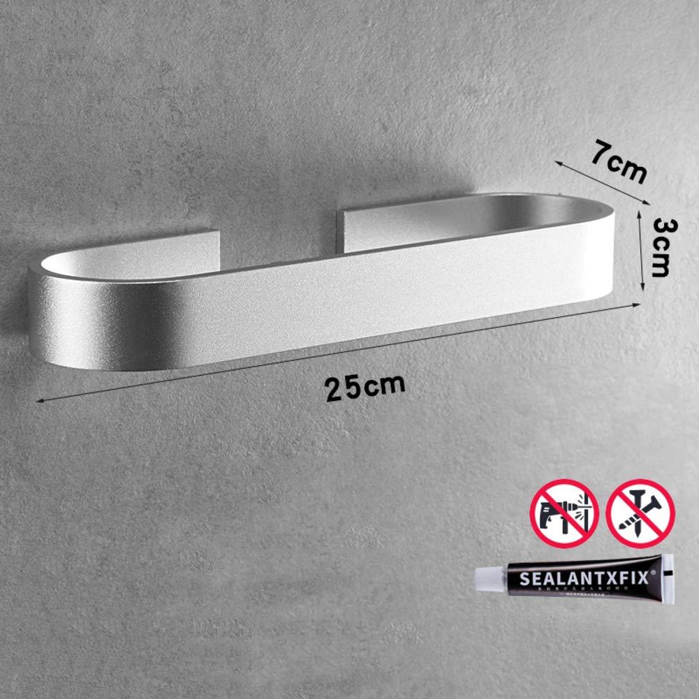 Selbstklebender Kleber Aluminium Handtuchringe-Schwarz 25cm 9.8in Tedamir Selbstklebender Handtuchhalter,Bad Handtuchstange Wandmontage Ohne Bohren Badetuchstange 3M Patentierter Kleber