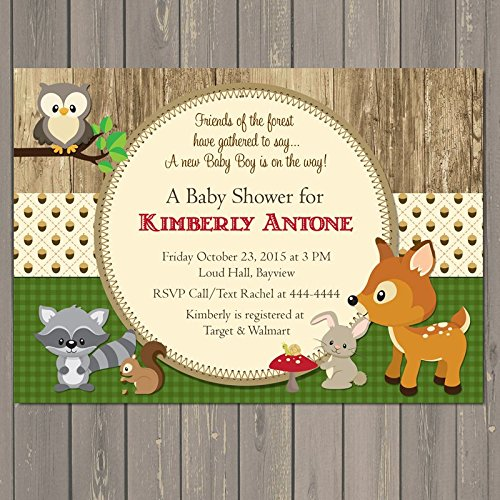 Amazon woodland baby shower invitations forest animal baby woodland baby shower invitations forest animal baby shower invitations gender neutral baby shower invitations filmwisefo