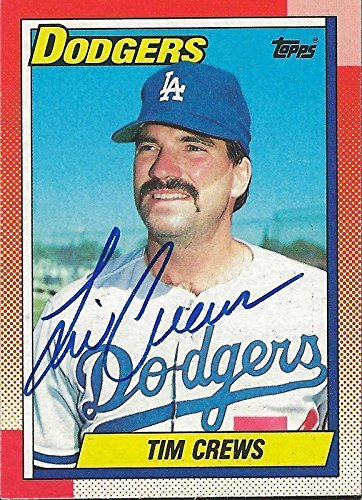 Tim Crews 1990 Topps Autograph #551 Dodgers - Baseball Slabbed Autographed Cards