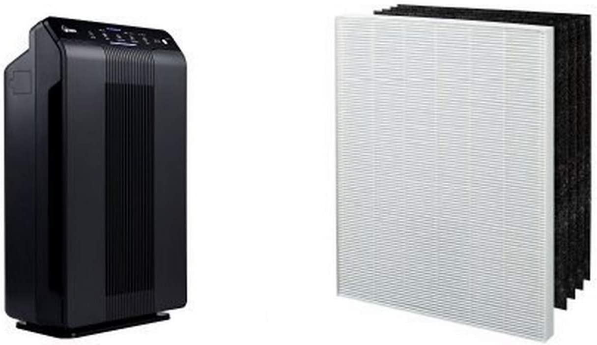 Winix 5500-2 Air Purifier with True HEPA, PlasmaWave and Odor Reducing Washable AOC Carbon Filter & Winix 115115 True HEPA Plus 4 Replacement Filter