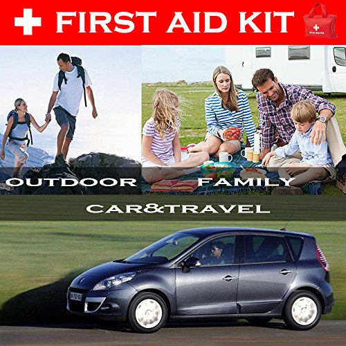 Dporticus 2 in 1 Compact First Aid Kit 90-Piece for Car, Travel, Camping, Home, Office, Sports, Survival | Complete Emergency Bag by Dporticus (Image #3)