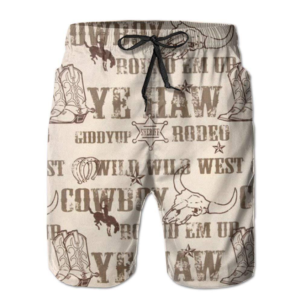 Men Cowboy Culture Swim Trunk Board Short Beach Shorts