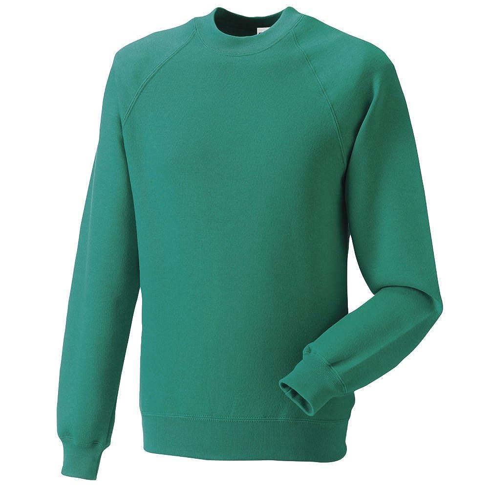 Russell Jerzees Schoolgear 762B Kids Childrens Classic Raglan Sleeve Sweatshirt Winter Emerald 11 12 Years