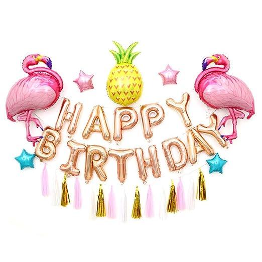 Hemore Flamingo y Piña Globos cumpleaños Fiesta Decoraciones ...