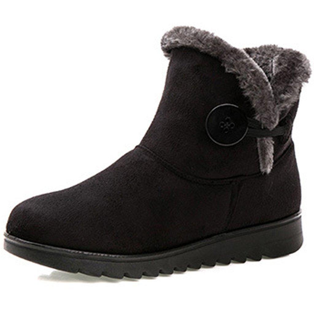Dear Time Women Winter Warm Button Snow Boots B01N40LS4P 9 B(M) US Black
