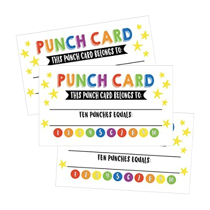 amazon com 25 rewards punch cards for kids students teachers