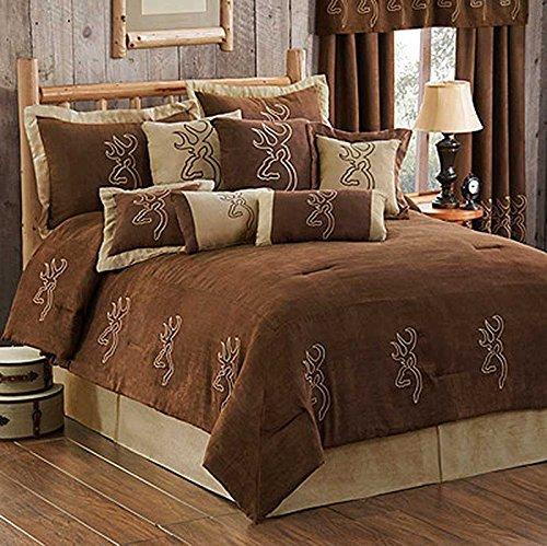 Browning Buckmark Suede Comforter Set - Queen Size