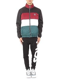 Fila Blocked Puffa Jacket, Jacket: Amazon.co.uk: Clothing