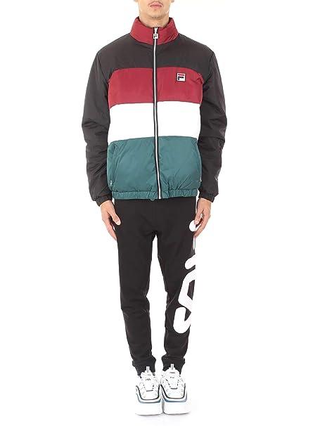 Fila Vintage Neo Colour Blocked Puffa Jacket Black/Red/White/Atlantico: Amazon.es: Ropa y accesorios