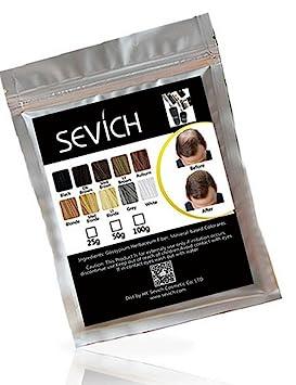 Sevich- Fibras capilares CASTAÑO MEDIO 50gramos: Amazon.es: Belleza