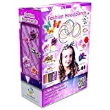 #5: Fashion Headbands for Girls - 60 Pcs DIY Satin Women Girl Jewelry Making Kit - Hair Accessories Flowers Rhinestones Roses Butterfly Arts Crafts for Girls - Make Your Own Headbands